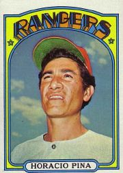 1972 Topps Baseball Cards      654     Horacio Pina